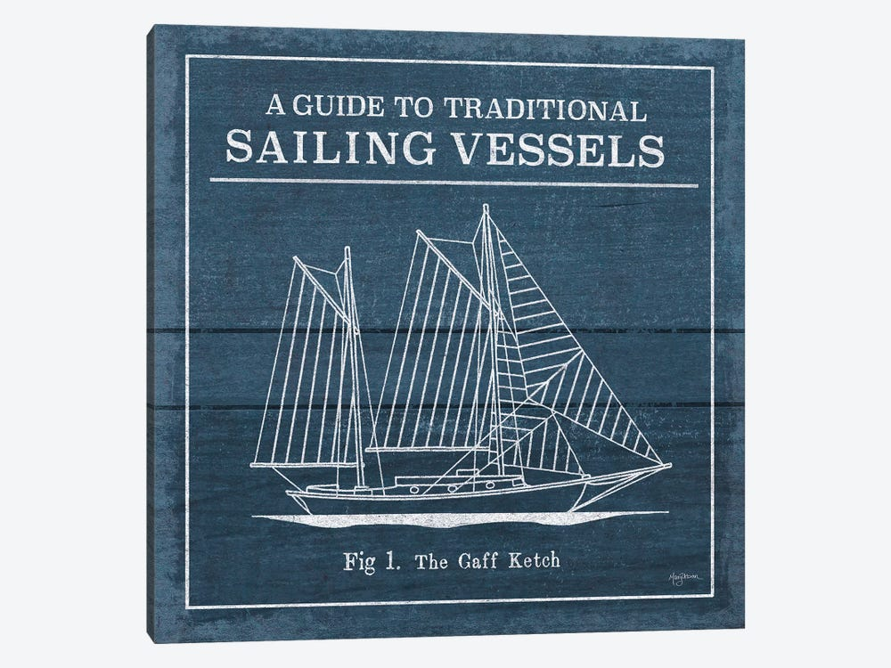 Vintage Sailing Knots XI by Mary Urban 1-piece Canvas Art Print