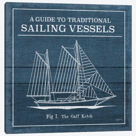 Vintage Sailing Knots XI Canvas Print #URB54} by Mary Urban Art Print