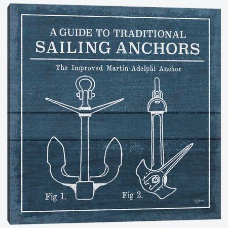 Vintage Sailing Knots XII Canvas Print #URB55} by Mary Urban Art Print