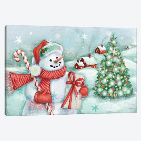 Classic Snowmen I Canvas Print #URB5} by Mary Urban Art Print