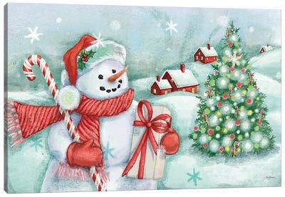 Classic Snowmen I Canvas Art Print