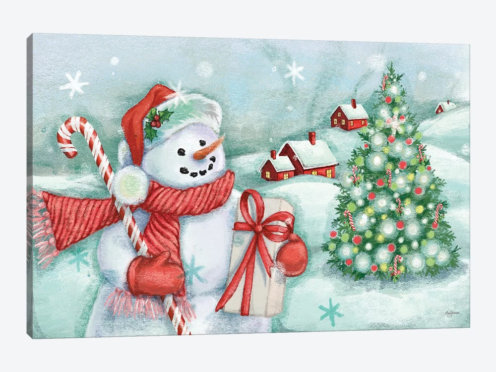 Classic Snowmen I by Mary Urban 1-piece Canvas Art