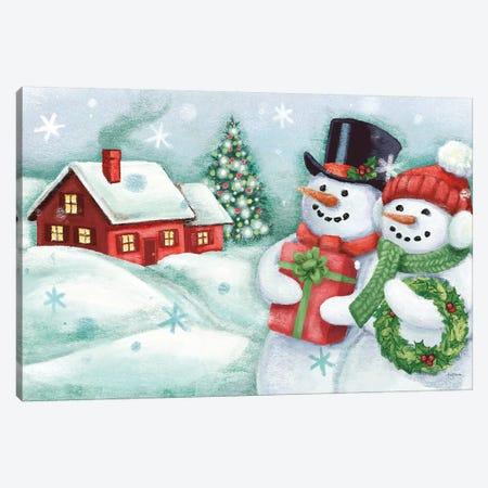 Classic Snowmen II Canvas Print #URB6} by Mary Urban Canvas Art Print