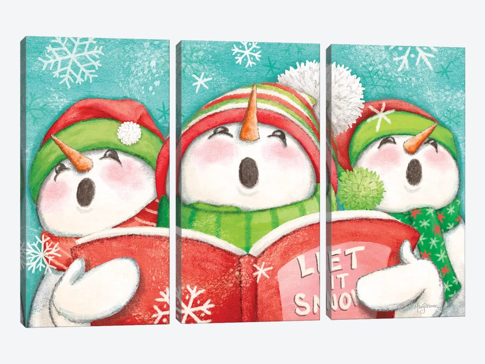 Let it Snow IV Eyes Open by Mary Urban 3-piece Canvas Art Print