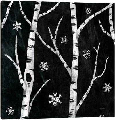 Snowy Birches II Canvas Art Print