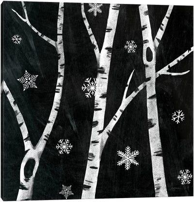 Snowy Birches III Canvas Art Print