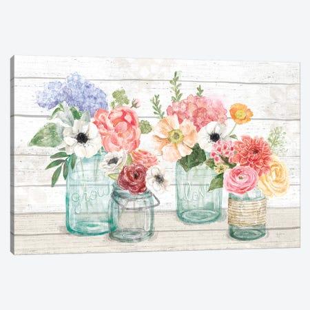 Pastel Flower Market I Canvas Print #URB79} by Mary Urban Canvas Artwork