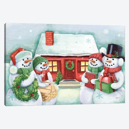 Classic Snowmen III Canvas Print #URB7} by Mary Urban Canvas Art Print