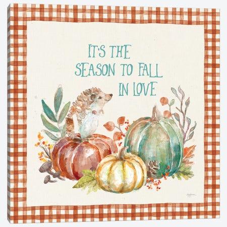 Autumn Friends III Pattern VA Canvas Print #URB80} by Mary Urban Art Print