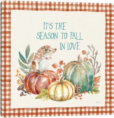 Autumn Friends III Pattern VA Canvas Art Print