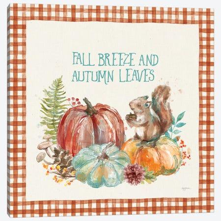 Autumn Friends IV Pattern VA Canvas Print #URB81} by Mary Urban Canvas Print