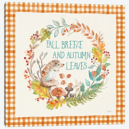 Autumn Friends VI Pattern VD Canvas Print #URB83} by Mary Urban Canvas Print