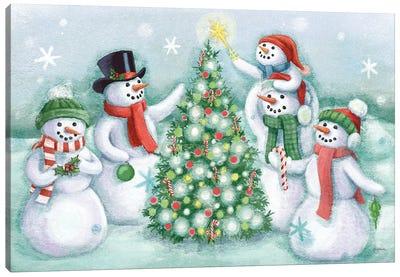 Classic Snowmen IV Canvas Art Print