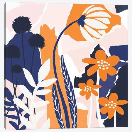 Happy Place Blue Canvas Print #URB94} by Mary Urban Art Print