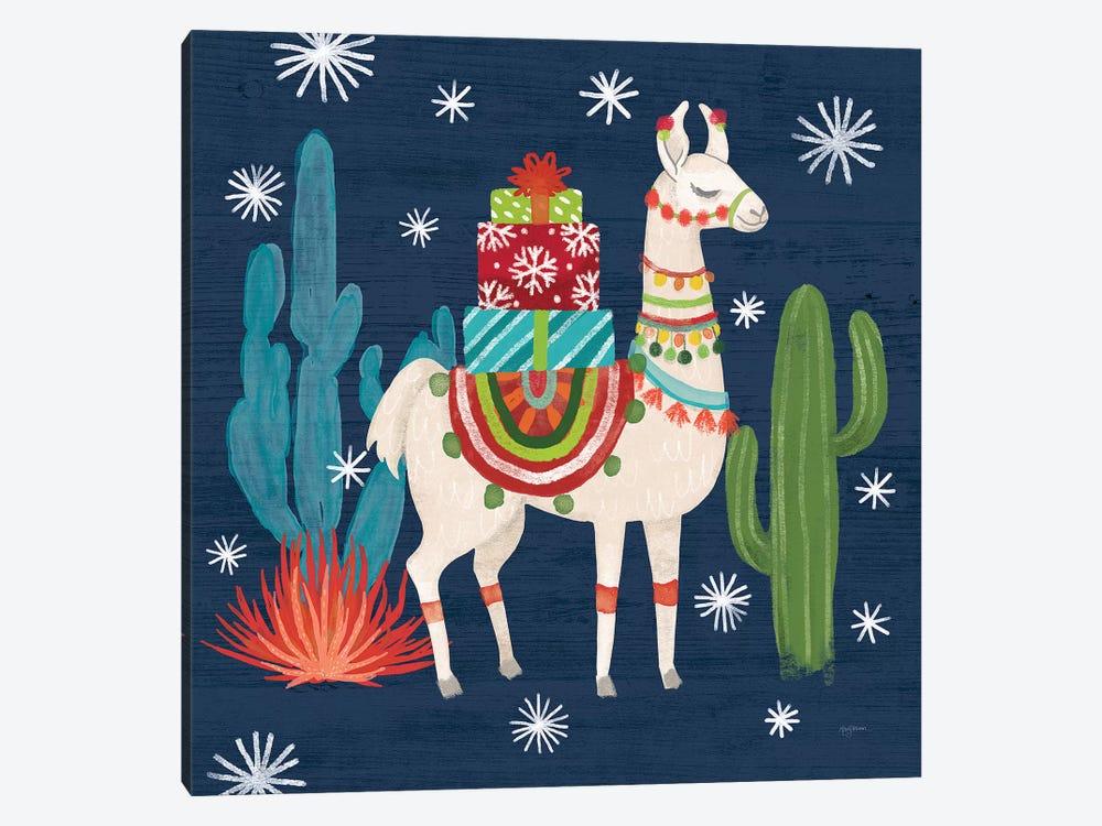 Lovely Llamas II Christmas by Mary Urban 1-piece Canvas Art