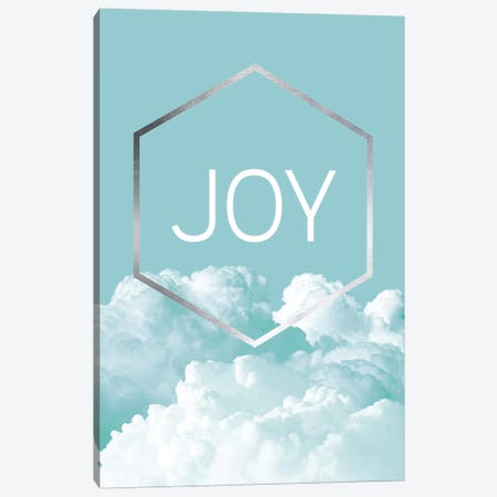 Love Joy Geo Turquoise III Canvas Print #URE111} by Urban Epiphany Art Print