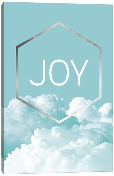 Love Joy Geo Turquoise III Canvas Art Print