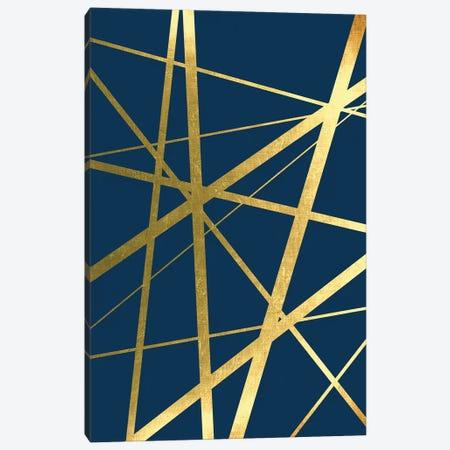 Metallic Lines Navy I Canvas Print #URE112} by Urban Epiphany Canvas Print