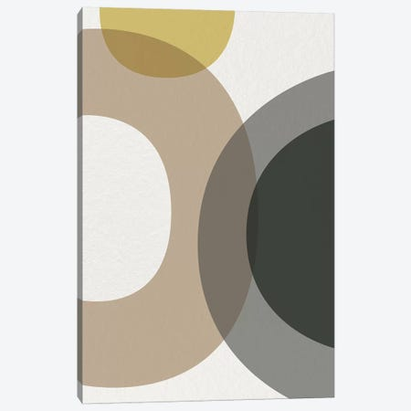 Mid Century Abstract Circles V Canvas Print #URE122} by Urban Epiphany Canvas Art