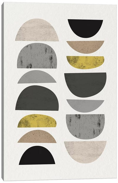 Mid Century Abstract Circles VII Canvas Art Print