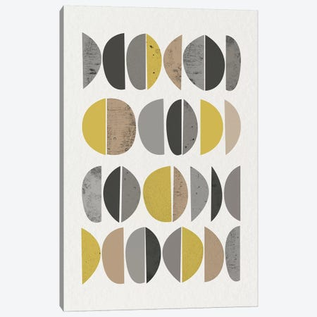 Mid Century Abstract Circles VIII Canvas Print #URE125} by Urban Epiphany Canvas Print
