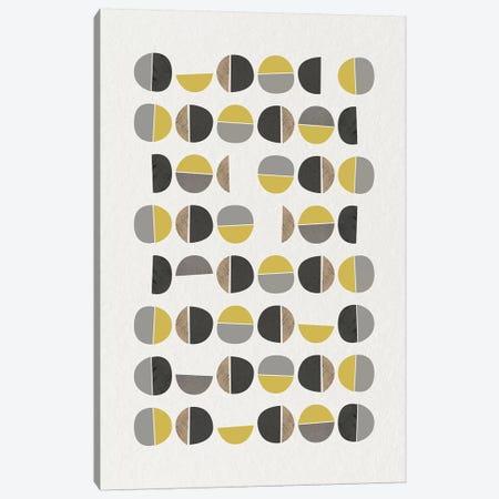 Mid Century Abstract Circles IX Canvas Print #URE126} by Urban Epiphany Canvas Print