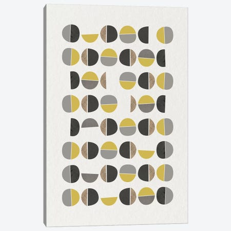 Mid Century Abstract Circles IX 3-Piece Canvas #URE126} by Urban Epiphany Canvas Print