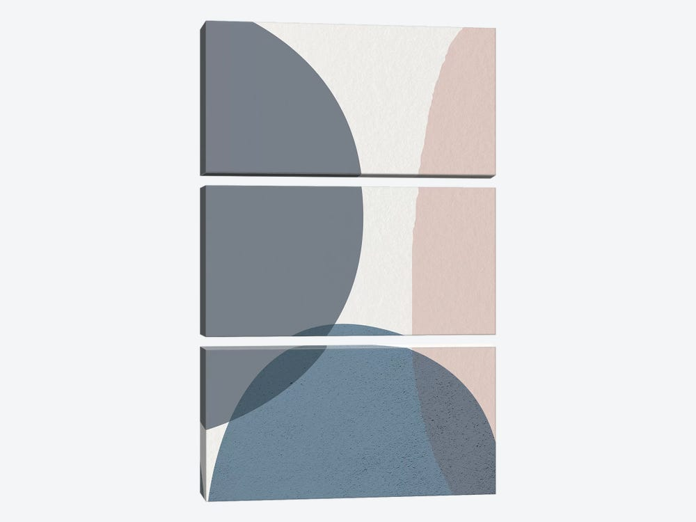 Mid Century Soft Luxe IV by Urban Epiphany 3-piece Canvas Wall Art