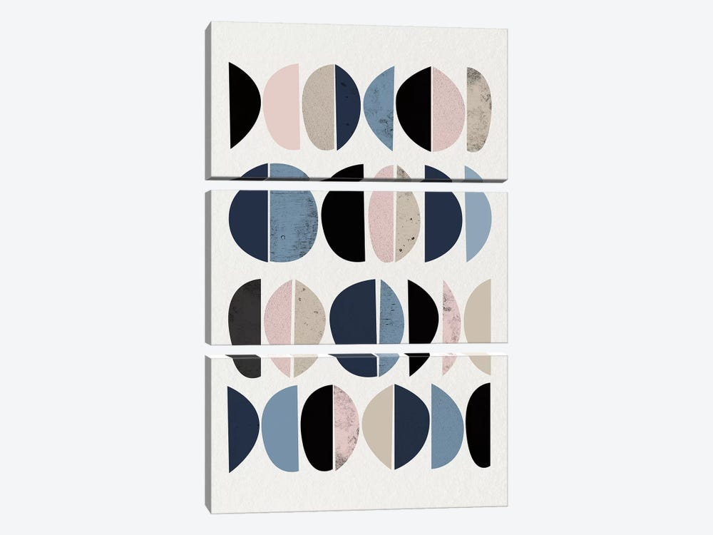 Mid Century Soft Luxe VIII by Urban Epiphany 3-piece Art Print