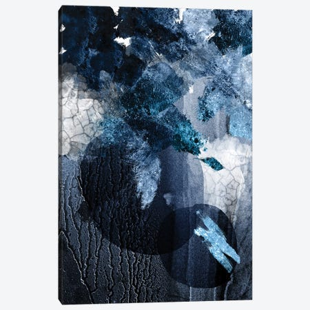 Abstract Navy White I Canvas Print #URE14} by Urban Epiphany Canvas Art