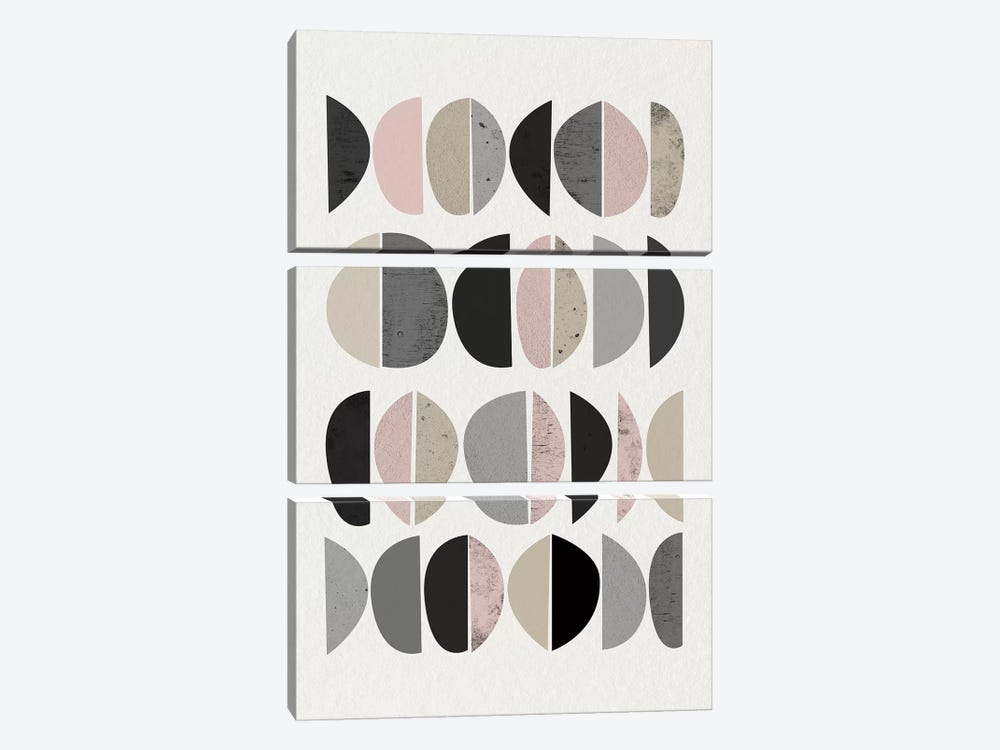 Minimalist Circles VIII by Urban Epiphany 3-piece Art Print