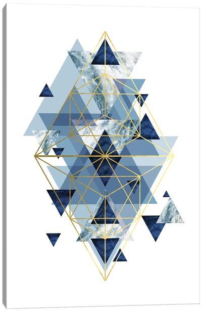 Navy Gold   Geometric Canvas Art Print