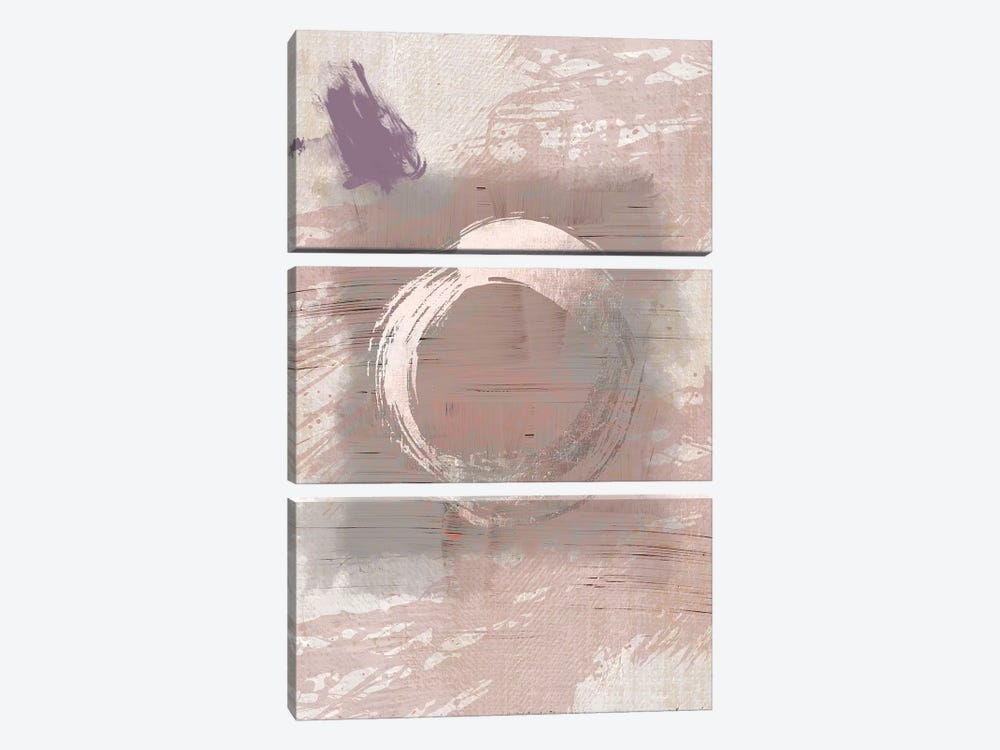 Pink Grey Hug by Urban Epiphany 3-piece Canvas Art Print