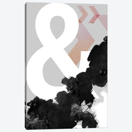 Ampersand Abstract Print Canvas Print #URE18} by Urban Epiphany Canvas Print