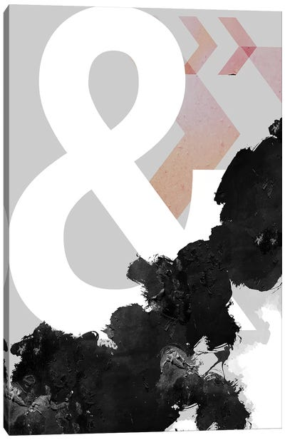 Ampersand Abstract Print Canvas Art Print