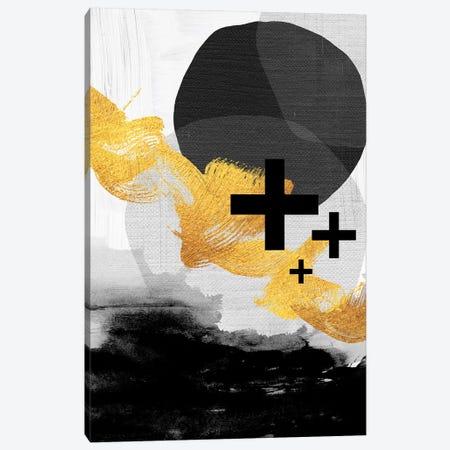 Scandi Black White Gold Canvas Print #URE199} by Urban Epiphany Canvas Art Print
