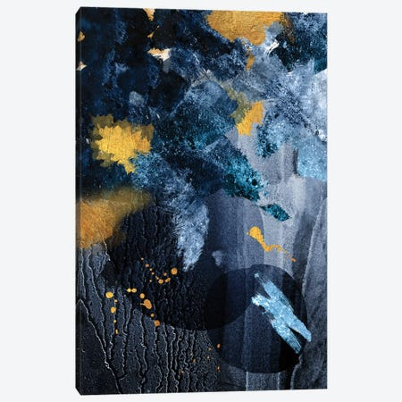 Abstract Blue and Gold Canvas Print #URE1} by Urban Epiphany Canvas Art Print