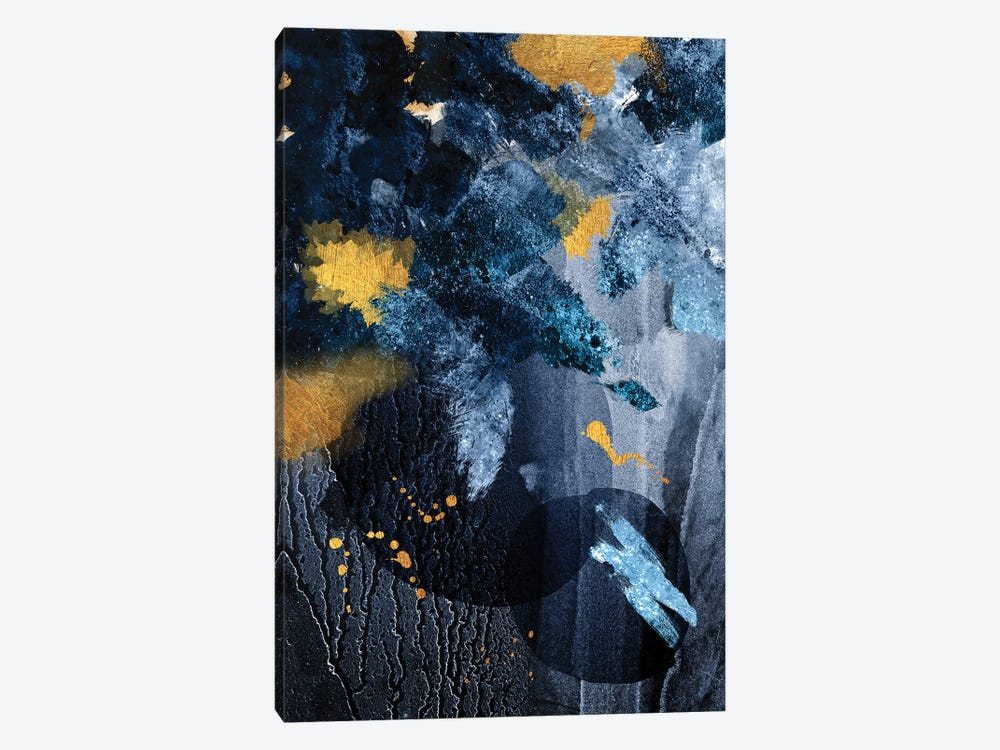 Abstract Blue and Gold by Urban Epiphany 1-piece Art Print