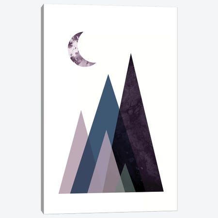 Scandi Mountains Blue I Canvas Print #URE204} by Urban Epiphany Canvas Art