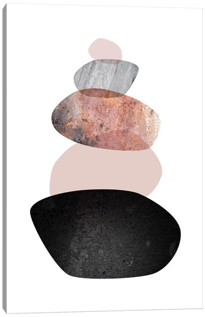 Balanced  White Blush Canvas Art Print