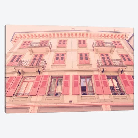 Vevey Architechture Coral Canvas Print #URE242} by Urban Epiphany Art Print
