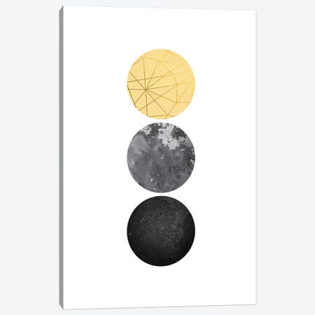 Yellow and Black Geo 3-Piece Canvas #URE249} by Urban Epiphany Canvas Art Print
