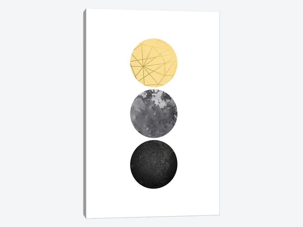 Yellow and Black Geo by Urban Epiphany 1-piece Canvas Art