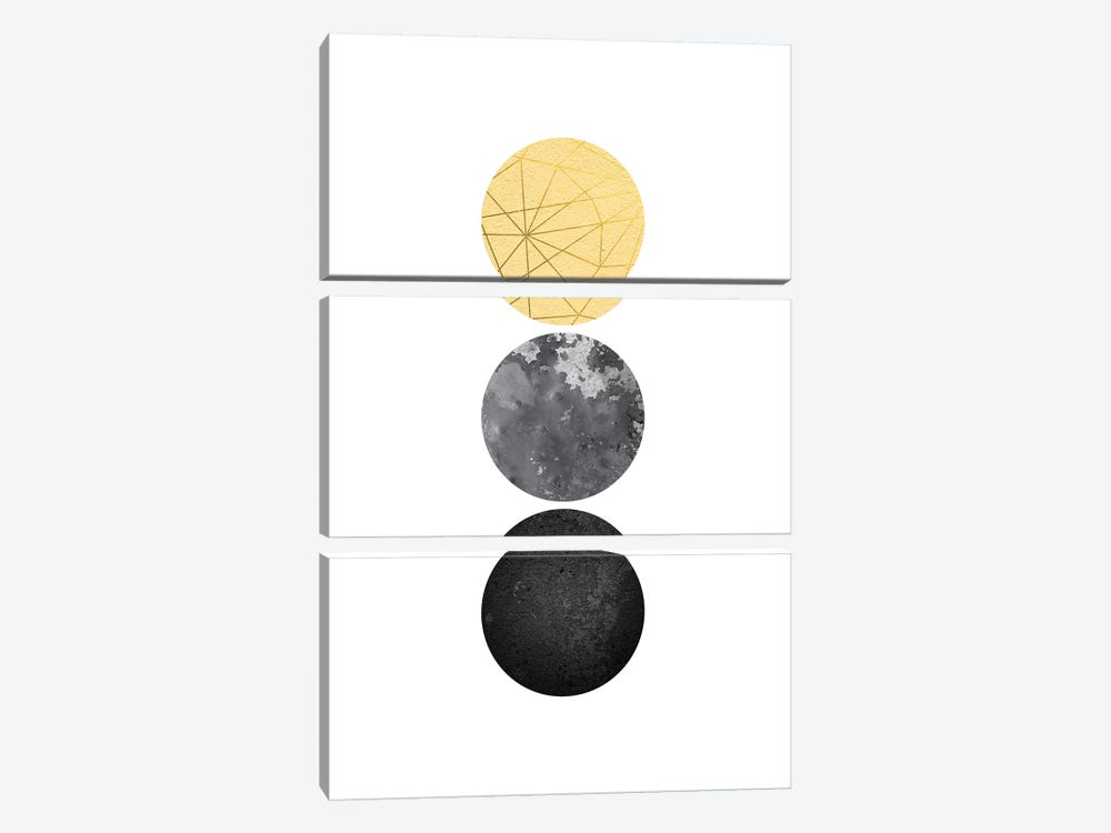 Yellow and Black Geo by Urban Epiphany 3-piece Canvas Wall Art