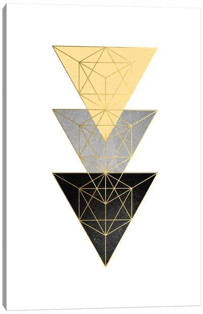 Yellow and Black Geo III Canvas Art Print