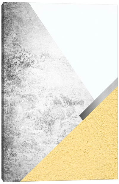 Yellow and Grey Mountains I Canvas Art Print