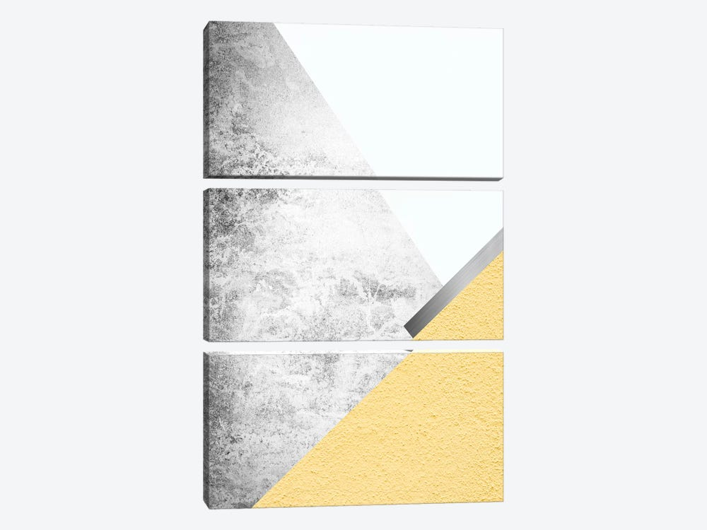 Yellow and Grey Mountains I by Urban Epiphany 3-piece Canvas Art Print
