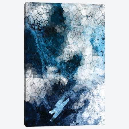 Abstract Navy White II Canvas Print #URE257} by Urban Epiphany Canvas Art Print