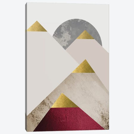 Beige Burgundy Mountains II Canvas Print #URE26} by Urban Epiphany Canvas Print