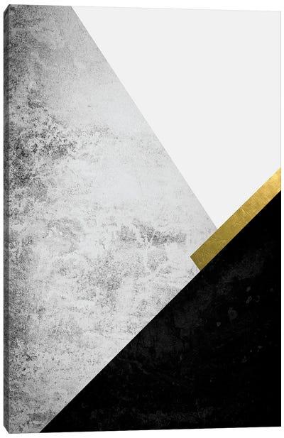Black Grey Gold Mountains I Canvas Art Print